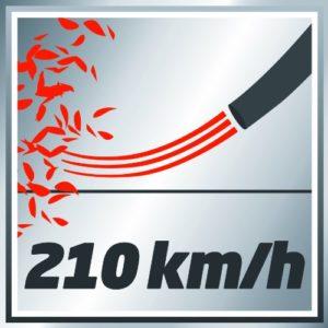 Einhell Akku Laubbläser GE-CL 18 Li Kit: 210 km/h maximale Blasgeschwindigkeit
