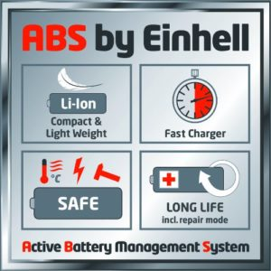 Einhell GE-CL 18 Li: ABS (Active Battery Management System)