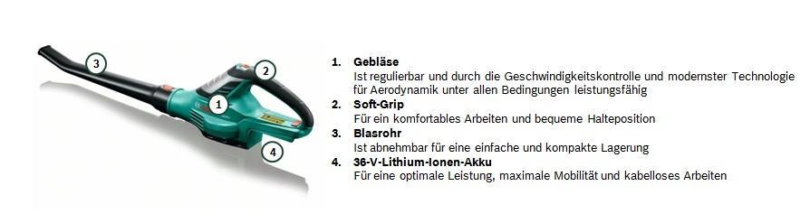 Bosch ALB 36 LI Kurzübersicht